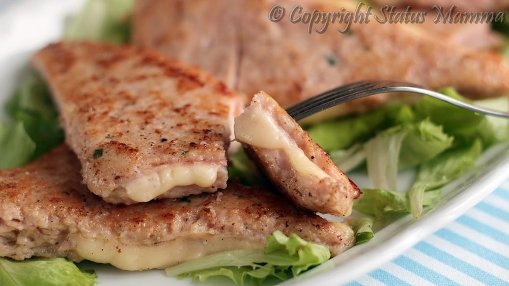 Sandwich di carne farciti ricetta gustosa facile e veloce in padella con prosciutto cotto e formaggio
