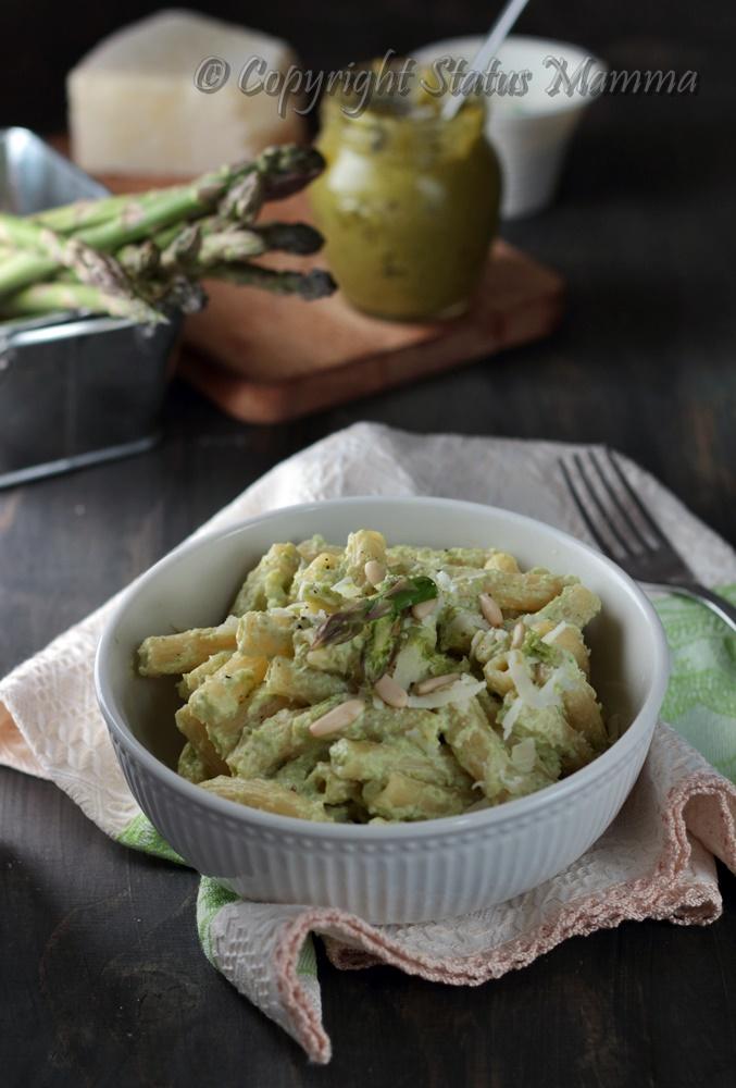 Pasta con crema di ricotta e asparagi primo con verdure facile veloce e gustoso Statusmamma gialloblog