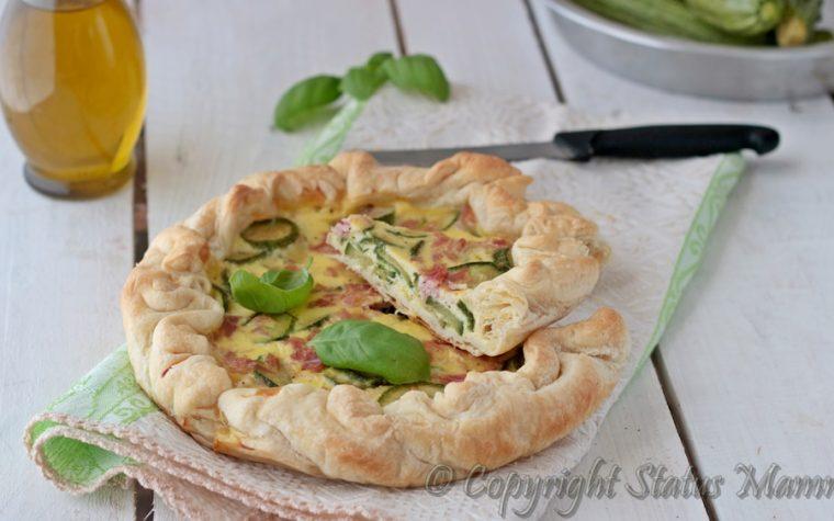 Torta salata di zucchine e prosciutto cotto