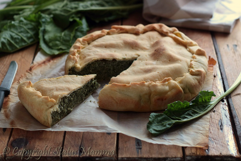 Torta salata di bietole ricetta antipasto secondo facile con ricotta foto food Statusmamma Giallozafferano verdure verdura