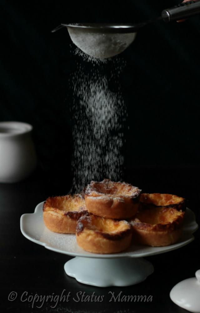 Pasticcini alla crema facili - Pasteis de Nata portogallo dolce dolci alla crema ricetta facile golosa con pasta sfoglia foto food photograpy styling Statusmamma gialloblog