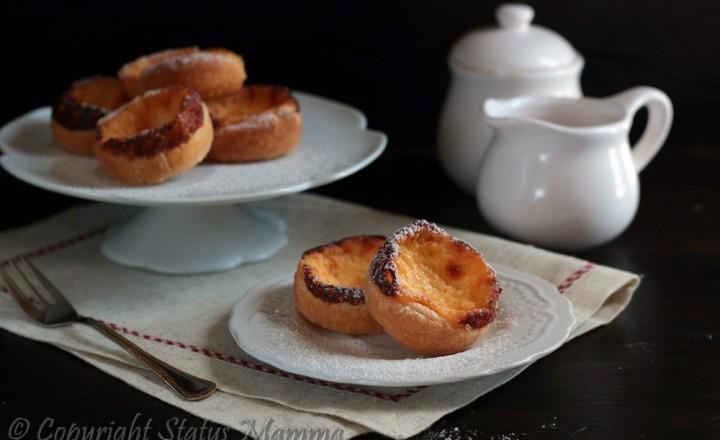 Pasticcini alla crema- Pasteis de Nata