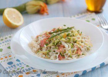 primo piatto riso pasta fredda facile veloce con zucchine limone salmone citronette al limone Statusmamma gialloblogs