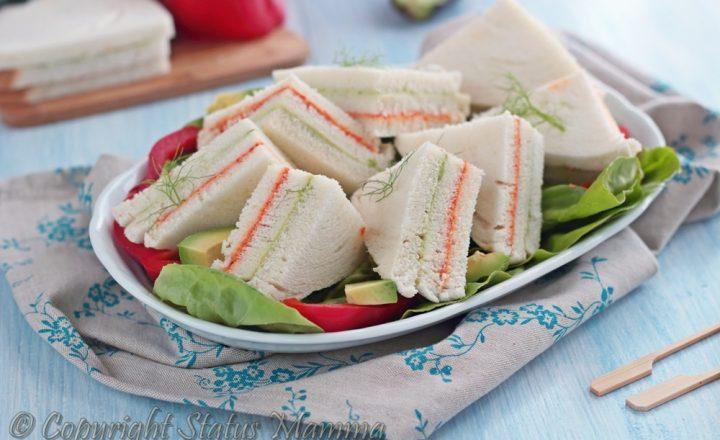 Tramezzini ricetta vegetariana tricolore
