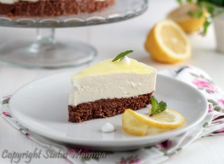 Chesecake al limone torta fredda allo yogurt