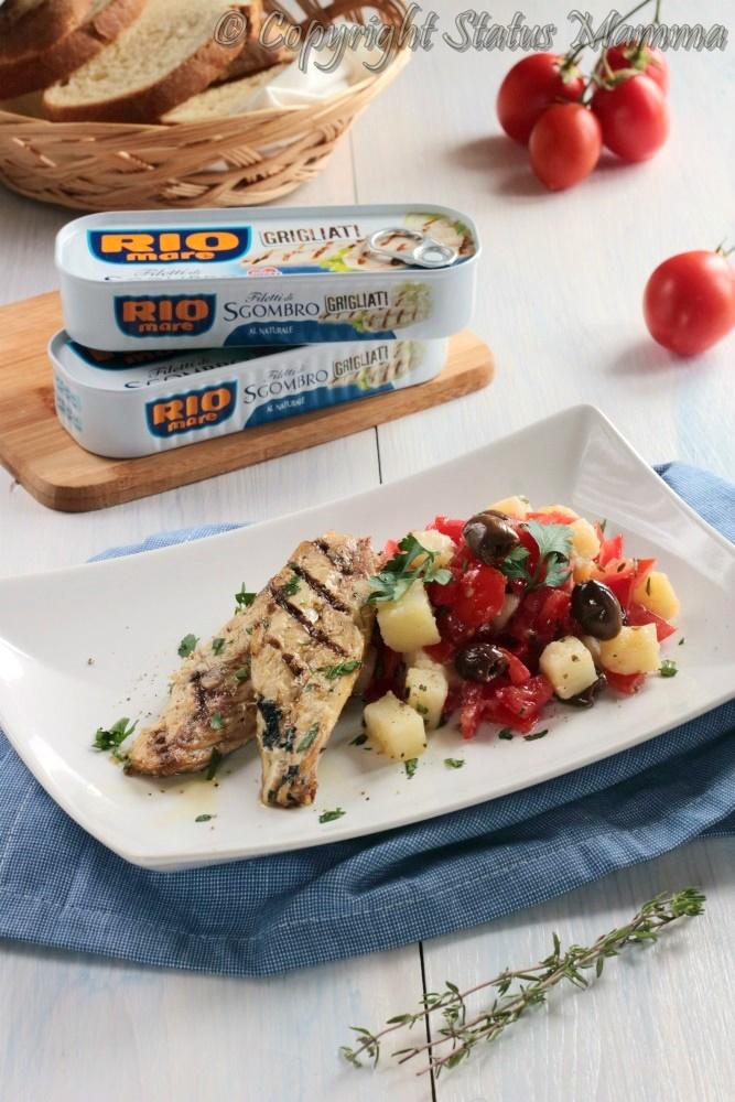 filetti di sgombro glirgliato con insalata ricetta estiva leggera facile Statusmamma Giallozafferano antipasto piatto unico