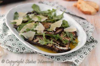melanzane grigliate ai semi misti ricetta antipasto secondo vegetariano con verdure e scaglie di grana facile e veloce Statusmamma gialloblogs