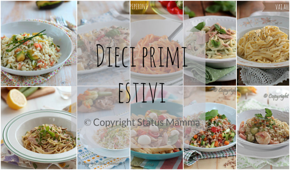 Dieci primi piatti estivi