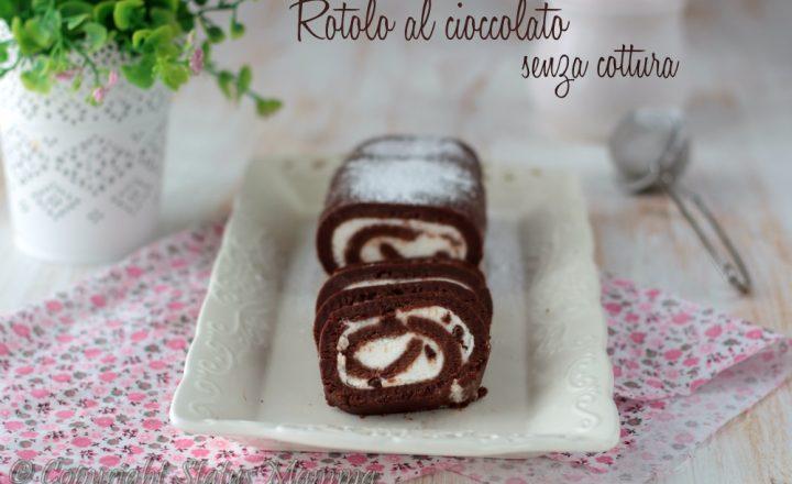 Rotolo al cioccolato senza cottura ricetta facile e golosa