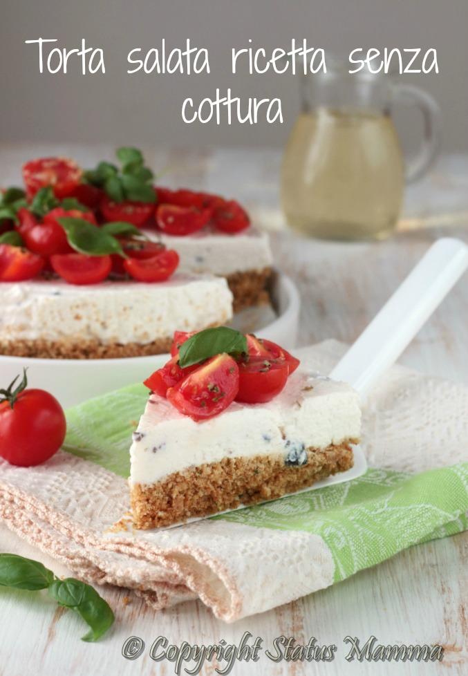 cheesecake ricetta senza cottura all\u0027italiana facile veloce con verdure torta  senza cottura fredda ricetta