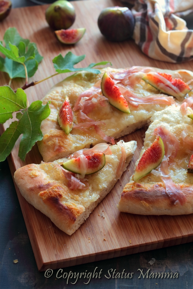 pizza prosciutto fichi lievitato facile Lazio Roma aifb associazione italiana food blog secondo antipasto lievitato Statusmamma gialloblogs