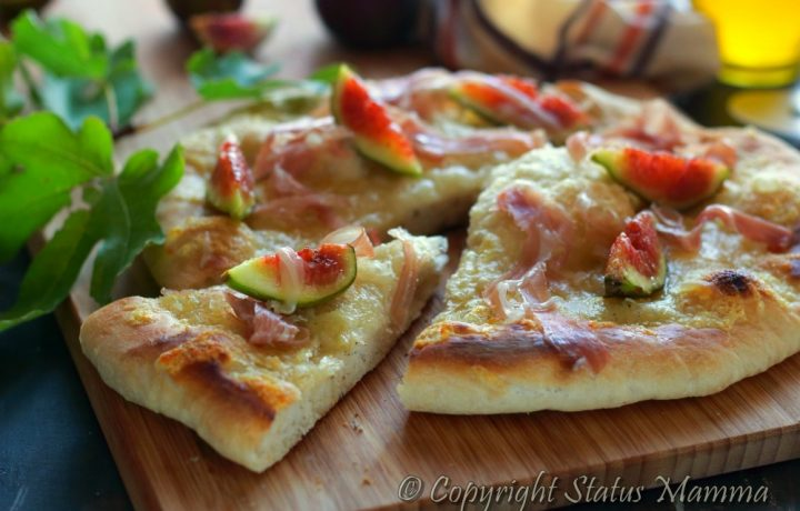 Pizza al prosciutto e fichi