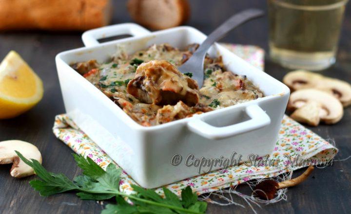 Funghi gratinati al forno ricetta facile e gustosa