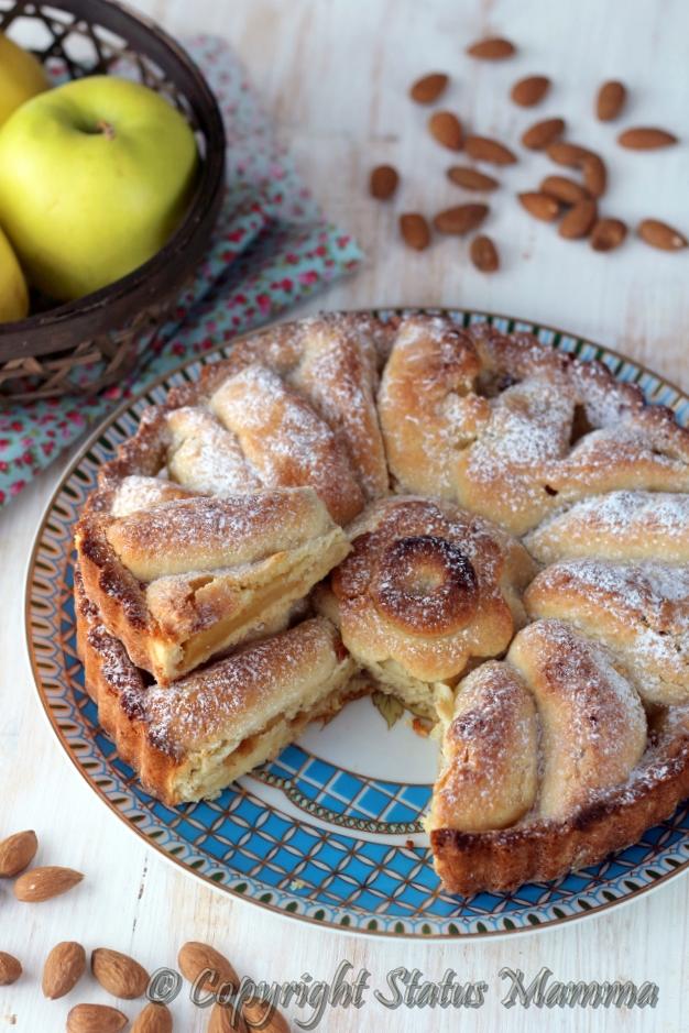 torta mele mandorle ricetta dolce facile festa solo mela e frolla dolce Statusmamma gialloblogs foto tutorial