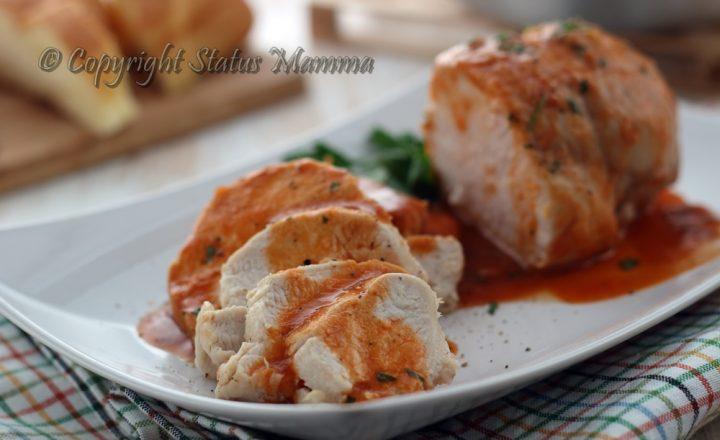 Arrostini gustosi facili cottura in padella con concentrato di pomodoro