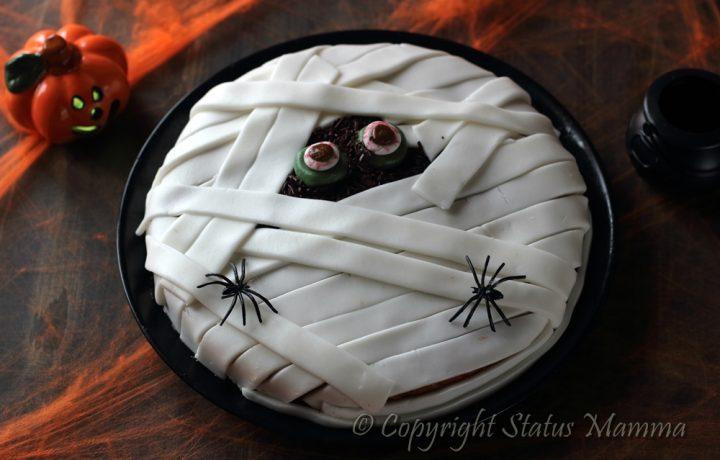 Mummia cake di Halloween torta stregata