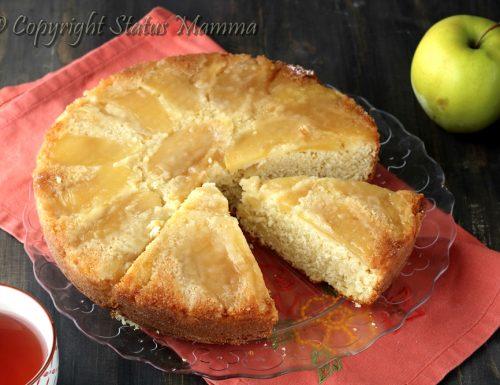 Torta rovesciata alla panna e mele soffice