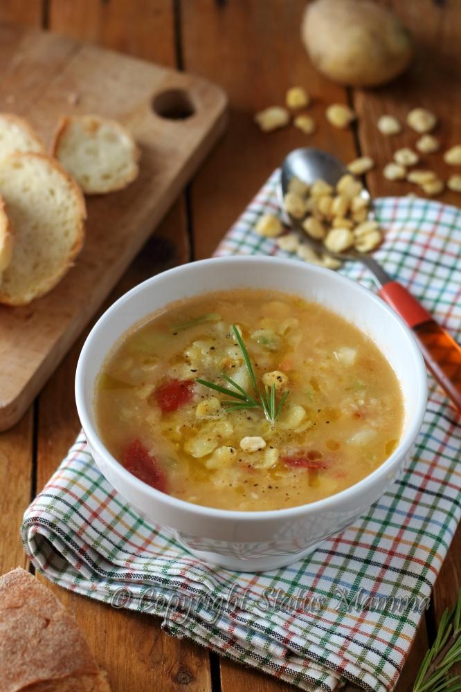facile gustoso minestra primo piatto statusmamma gialloblogs foto tutorial.  zuppa di cicerchie e patate