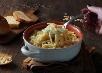 Ricetta zuppa di pasta con le cicerchie primo piatto vegetariano vegano facile ricetta con legumi verdure facile gustoso Statusmamma gialloblogs video tutorial facile