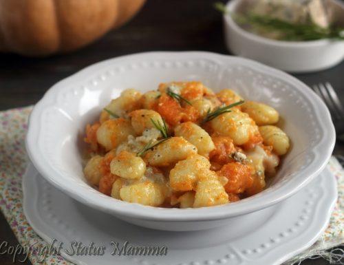 Gnocchi di zucca e gorgonzola primo piatto cremoso