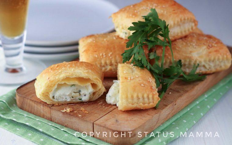 Sgonfiotti al formaggio con pasta sfoglia