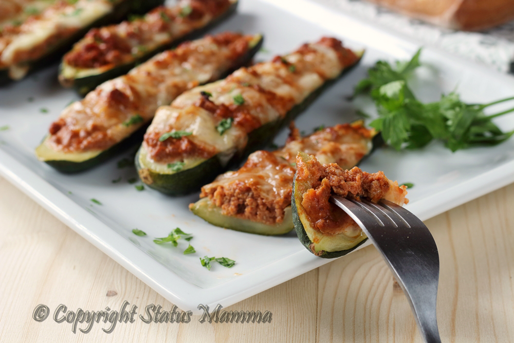 Ricetta zucchine ripiene di ragù di carne e provola