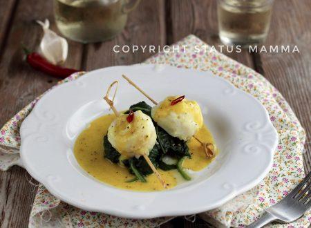Involtini semplici di pesce al curry
