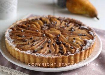 RICETTE CON LA FRUTTA cosa cucinare a marzo Torta di pere con crema cotta al cioccolato