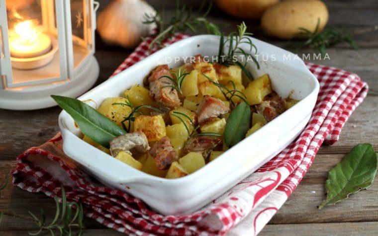 Tranci di tonno al forno con patate