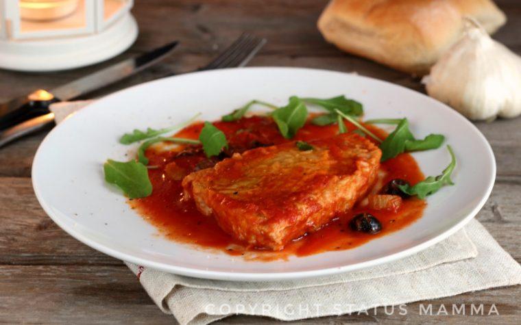Ricetta tagliata di tonno al sugo di pomodoro