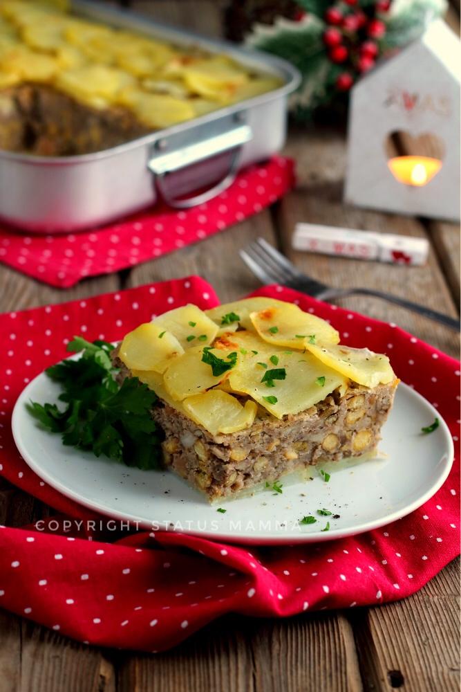 Polpettone vegetariano senza carne di legumi e patate