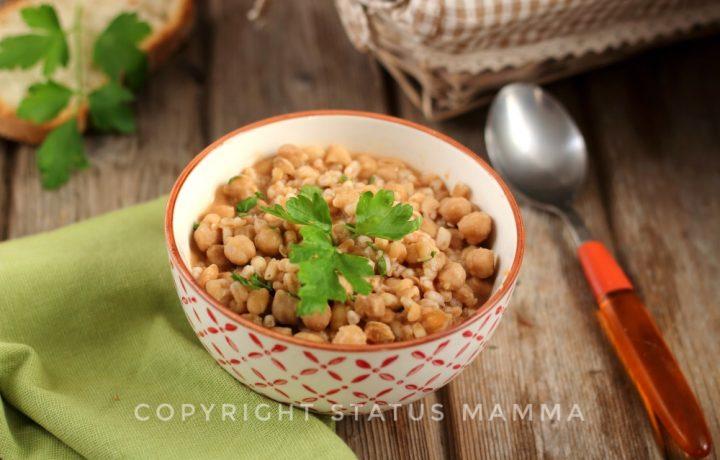 Ricetta con farro e ceci come fare una zuppa semplice e gustosa