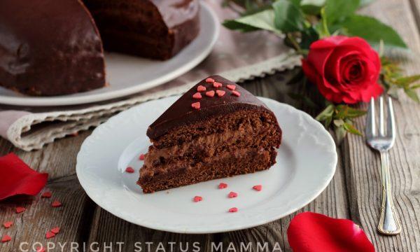 Torta delizia al cioccolato cremosa