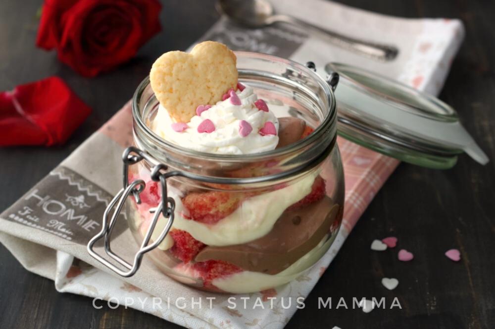 Zuppa inglese in barattolo di San Valentino