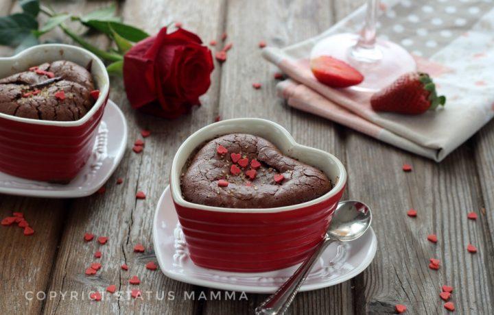 Tortino al cioccolato dal cuore cremoso vegan facile e goloso