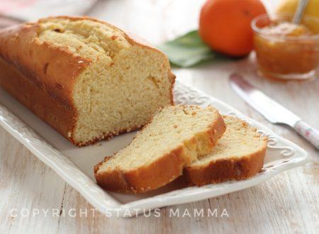 Plumcake sofficissimo con spremuta d'arancia alla panna senza olio e burro