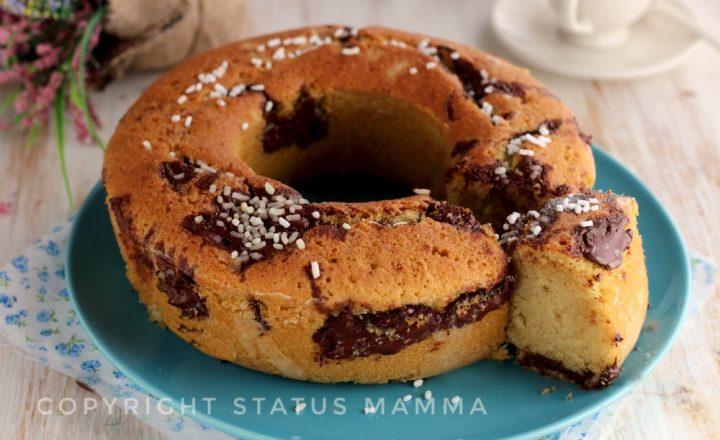 Ciambellone soffice al cappuccino e cioccolato fondente