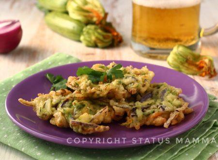 Frittelle di zucchine in pastella frizzante perfetta facili