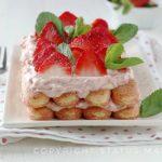 Tiramisù cremoso alle fragole  ricetta con e senza bimby