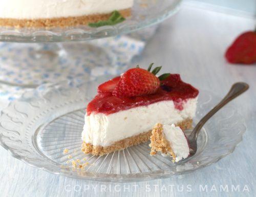 Ricetta cheesecake cremosa con gelatina di fragole