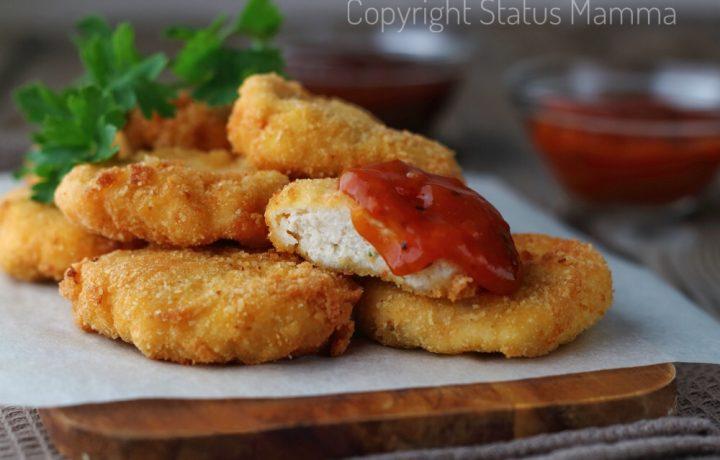 Ricetta Chicken nuggets homemade crocchette di pollo fatte in casa.