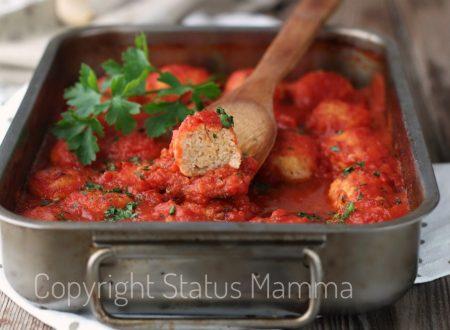 Polpette di pollo al sugo cottura forno o ricetta con bimby