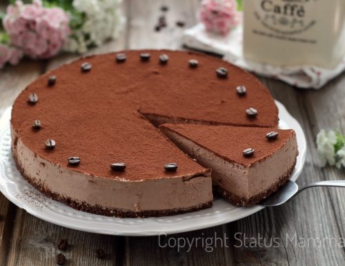 Cheesecake senza cottura cioccolato e caffè allo yogurt e mascarpone
