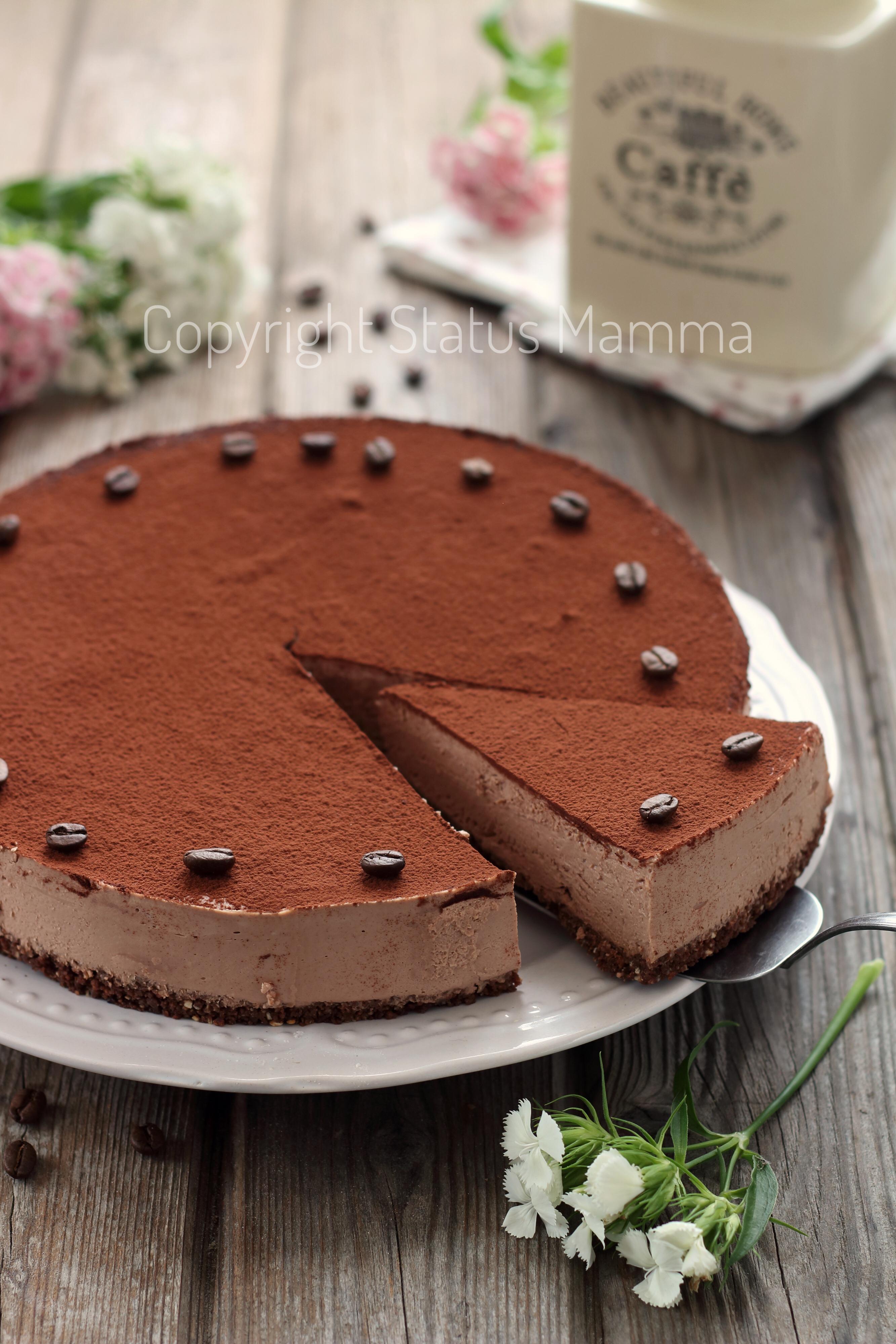 Cheesecake cioccolato e caffè allo yogurt e mascarpone