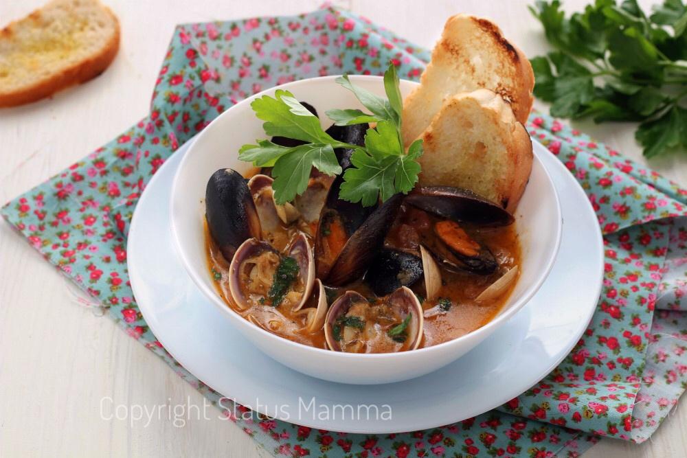 Ricetta zuppa di vongole e cozze