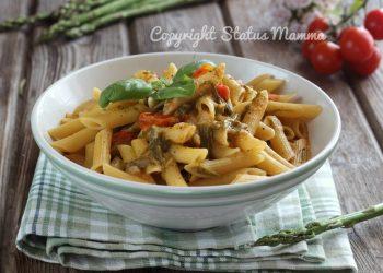 RICETTE CON LE VERDURE DI MAGGIO -Primo piatto sfizioso pasta risottata con asparagi e pomodorini