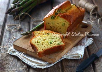 RICETTE CON LE VERDURE DI MAGGIO - Ricetta plumcake salato asparagi e caprino