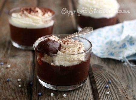Coppa panna e cioccolato simil Malù dessert fresco e cremoso