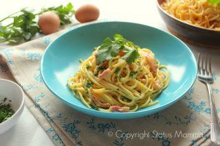 Carbonara sbagliata ricetta facile veloce , cucinare primo con le uova , perfetta per tutta la famiglia.