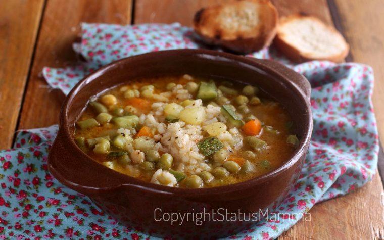 Minestrone leggero di riso e verdure